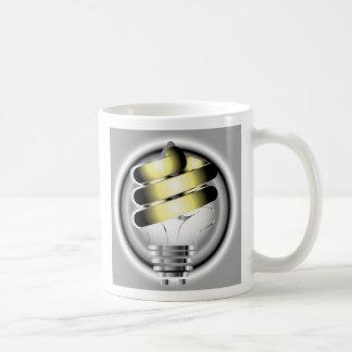 Light Bulb, Think Green Basic White Mug