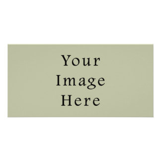Light Camouflage Green Color Trend Blank Template Custom Photo Card