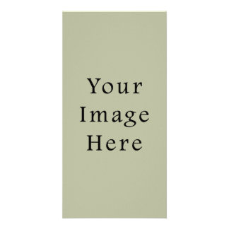 Light Camouflage Green Color Trend Blank Template Customized Photo Card