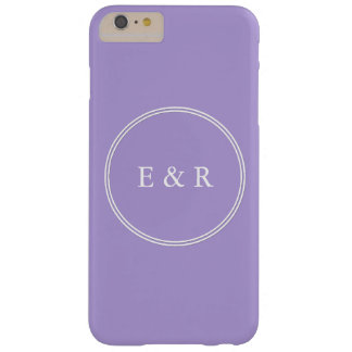 Light Chalky Pastel Purple Wedding Party Set Barely There iPhone 6 Plus Case