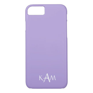 Light Chalky Pastel Purple Wedding Party Set iPhone 7 Case