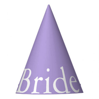 Light Chalky Pastel Purple Wedding Party Set Party Hat