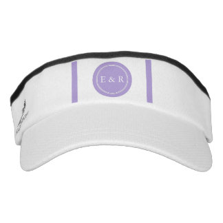 Light Chalky Pastel Purple Wedding Party Set Visor