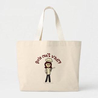 Light Chef Girl Jumbo Tote Bag