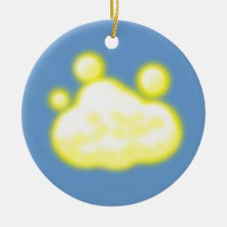 Light Cloud Round Ceramic Decoration