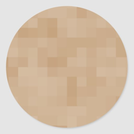 Light Coffee Brown Color Abstract Pattern. Stickers