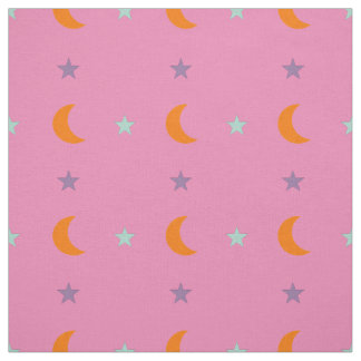 Light colors stars and moon 2 fabric