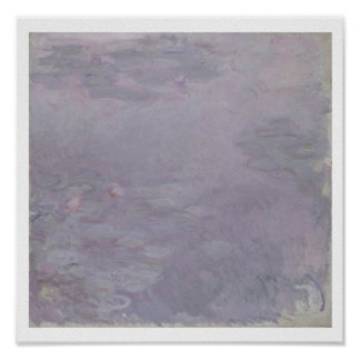 Light-coloured Waterlilies, 1917-25 (oil on canvas Poster