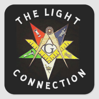 Light Connection Square Sticker
