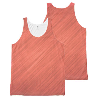 Light Copper Orange Tank Top All-Over Print Tank Top