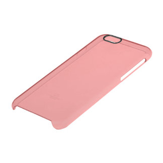 Light Coral Solid Colour Clear iPhone 6/6S Case