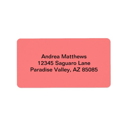 Light Coral Solid Colour Label