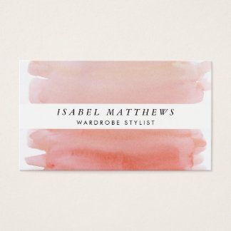 Light Coral Watercolor & White Stripe