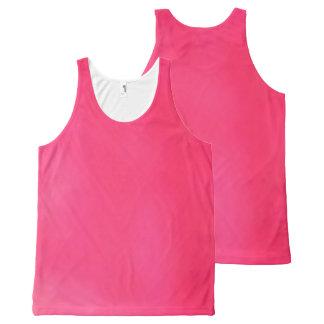 light dark pink  All-Over Printed Unisex Tank