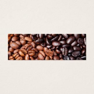 Light & Dark Roasted Coffee Beans Customized Blank Mini Business Card