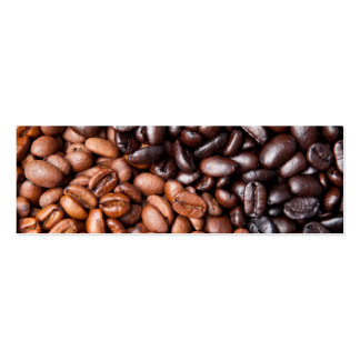Light & Dark Roasted Coffee Beans Customized Blank Pack Of Skinny Business Cards