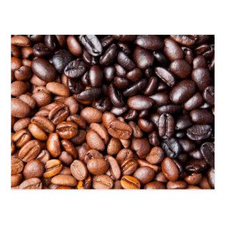 Light & Dark Roasted Coffee Beans Customized Blank Postcard