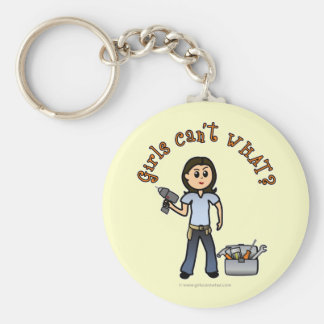 Light Do-It-Yourself Diva Basic Round Button Key Ring