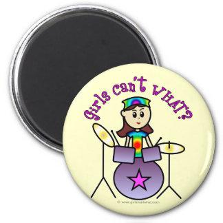 Light Drummer Girl Magnets