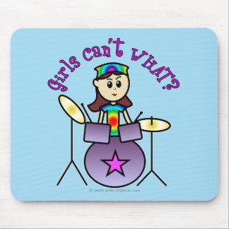 Light Drummer Girl Mousepads