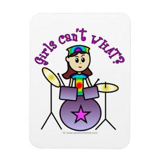 Light Drummer Girl Rectangular Magnets