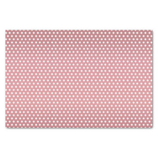 Light Dusty Rose and White Polka Dots Tissue Paper
