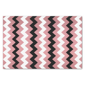 Light Dusty Rose, Black White Chevron Tissue Paper