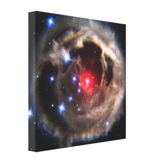 Light Echo from Star Stretched Canvas Print