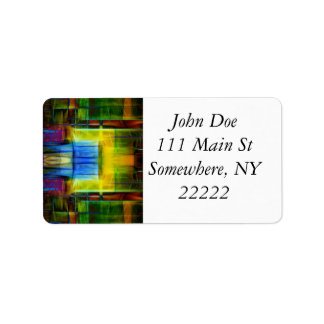Light-Effect Sci-Fi Abstract Address Label