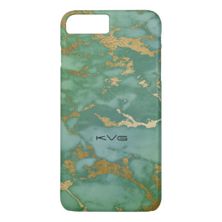 Light Emerald Green & Gold Image Of Marble Texture iPhone 8 Plus/7 Plus Case