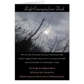 """""""Light Emerging from Dark"""" Poem/Card Card"""