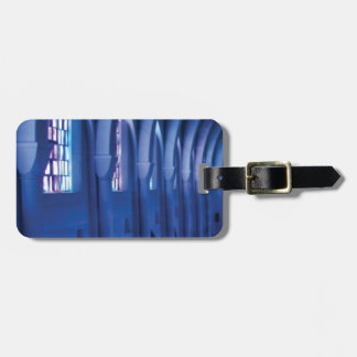 light enters dark church luggage tag