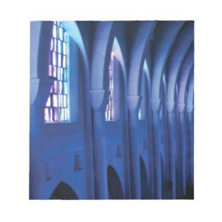 light enters dark church notepad