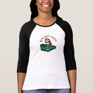 Light Female Billiards Player T-Shirt