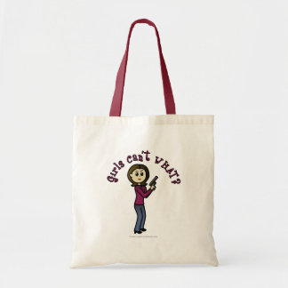 Light Female Sharpshooter Budget Tote Bag