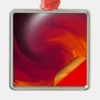 Light_Fire_Twirl Page Curl Metal Ornament