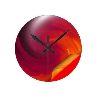 Light_Fire_Twirl Page Curl Round Clock