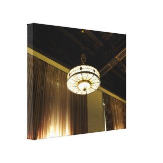 Light Fixture Stretched Canvas Print