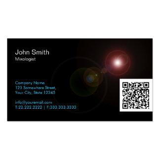 Light Flares QR Mixologist Business Card