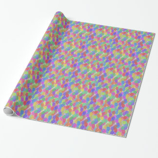 Light Floating Colorful Balloons Wrapping Paper