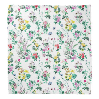 Light Floral Pattern Bandana