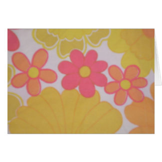 Light Flowers 70's Retro Stationery Note Card