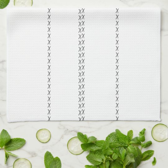 Light French Grey Stitch Kitchen Towel