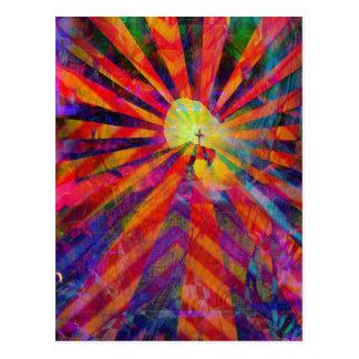 Light from Jesus cross Postcard