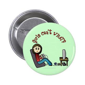 Light Gamer Girl 6 Cm Round Badge