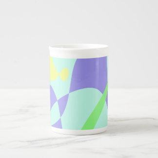 Light Gentle Soft Abstract Bone China Mug