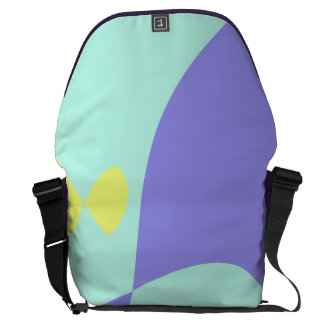 Light Gentle Soft Abstract Courier Bag