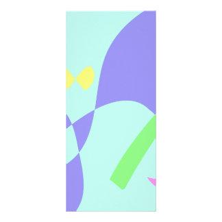 Light Gentle Soft Abstract Rack Card Design