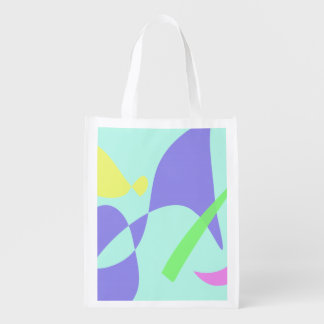 Light Gentle Soft Abstract Grocery Bag