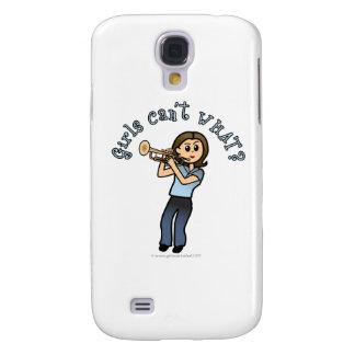 Light Girl Trumpet Player Samsung Galaxy S4 Cases